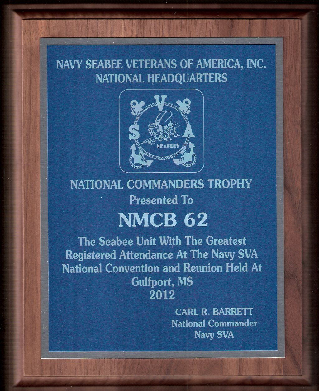 National Commanders Trophy October 2012 National Convention Gulfport, MS