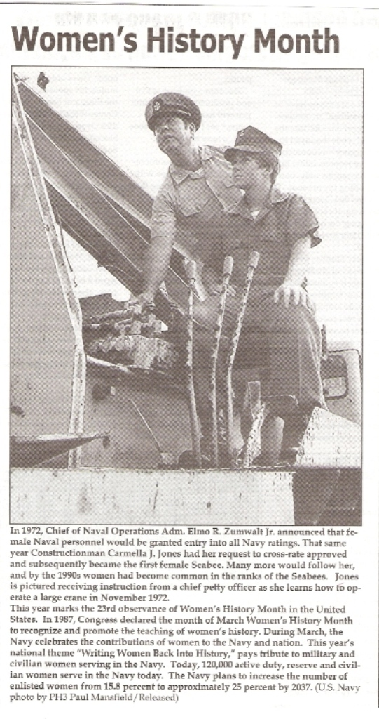 First Woman Seabee